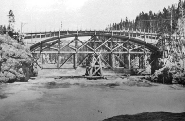 Geyser Bobs Yellowstone Park History Service Historic Bridges Of
