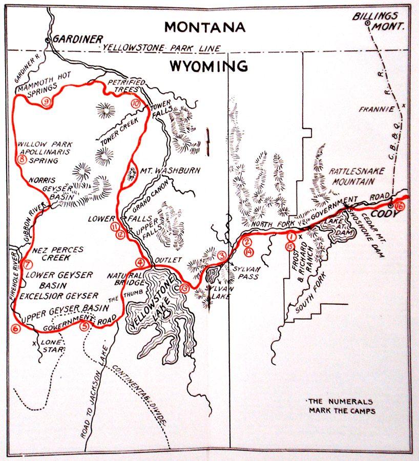 Sunlight Basin Wyoming Map.Geyser Bob S Yellowstone Park History Service Frost Richard