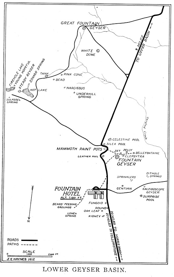 Geyser Bob\'s Yellowstone Park History Service - Maps - Historic