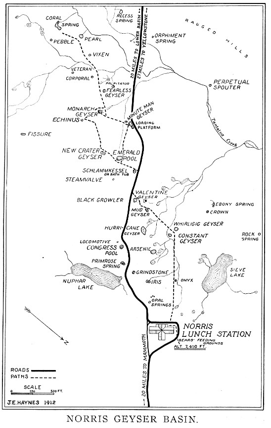 Geyser Bob S Yellowstone Park History Service Maps
